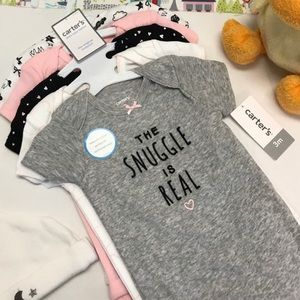 Carter's Basics The Snuggle Is Real 5 Set Onesies